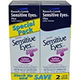 Sensitive Eyes Plus Saline Solution, 12 Fluid Ounce (Pack of 2)