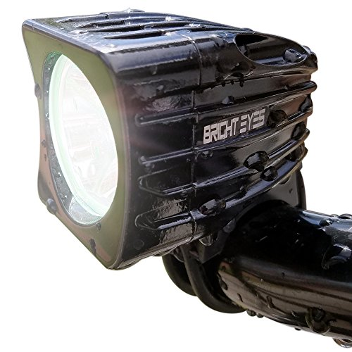 Bright-Eyes-Rechargeable-Mountain-Bike-Headlight-NEWLY-UPDATED-1200-LUMENS-6400mAh-Battery-POWERFUL-BEAM-FREE-TAILLIGHT-AND-DIFFUSER-LENS-Included-Limited-Time-WATERPROOF-No-Tools-required