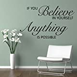UberLye Pigmented Polyvinyl Everyday Inspiration on Self Belief Wall Sticker (Wall Covering Area: 57cm x 85cm)