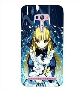 PrintDhaba CUTE GIRL D-7002 Back Case Cover for ASUS ZENFONE SELFIE ZD551KL (Multi-Coloured)
