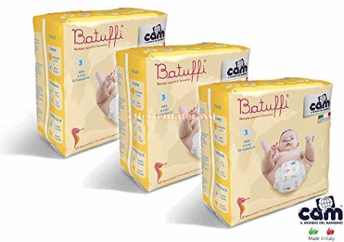 CAM Pannolini Batuffi mod. Immagina taglia 3 MIDI 4-9 kg 60 pannolini V426