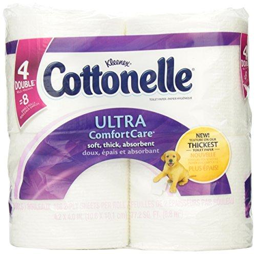 Cottonelle Ultra Comfort Care Toilet Paper, Double Roll, 4 Pk front-952716
