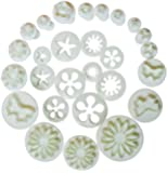 10 Sets (33 Pcs) Plunger Cutters Sugar craft Cake Decorating - Including Free First Class Delivery(Heart, Veined Butterfly, Star, Daisy, Veined Rose Leaf ,Carnation, Blossom, Flower, Sunflower , Other)