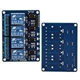 Ecloud Shop 10 pieces 4-Channel Relay Module for Arduino ARM PIC AVR DSP TTL Electronic 5V