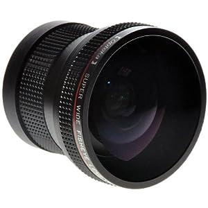 """Opteka HD² 0.20X Super AF Objectif Hypergone """"Fisheye"""" Professionnel Pour Canon Modèles: EOS 1D, 5D, 7D, 10D, 20D, 30D, 40D, 50D, 60D, 300D, 350D, 400D, 450D, 500D, 550D, 600D, 1000D & 1100D Appareils Photo Reflex"""