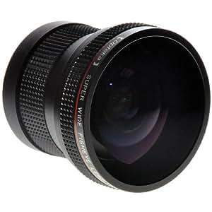 Objectif professionnel fisheye super AF Opteka HD 0.20X, Pour Reflex digitaux Canon EOS 1D, 5D, 6D, 7D, 10D, 20D, 30D, 40D, 50D, 60D, 70D, 100D, 300D, 350D, 400D, 450D, 500D, 550D, 600D, 700D, 1000D, 1100D & 1200D