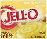 Jell-O Instant Pudding and Pie Filling, French Vanilla, 3.4-Ounce Boxes (Pack of 6)