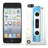 Retro Cassette Silicone Case Cover Shell For Apple iPod Touch 5 5th Generation / White