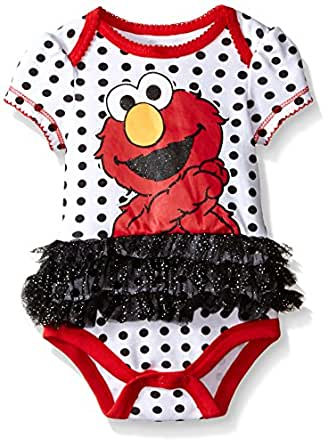 Amazon Sesame Street Baby Girls Elmo Tutu Bodysuit