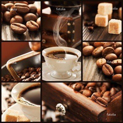 "Wallmonkeys Peel and Stick Wall Graphic - Coffee Collage - 36""H x 36""W"