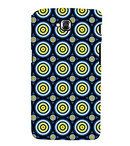 Printvisa Blue Yellow Polka Dot Illusion Pattern Back Case Cover for LG GPro Lite::LG G Pro Lite Dual D686
