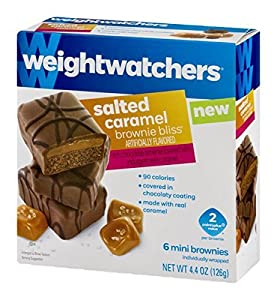 Weight Watchers Brownie Bliss Mini Brownies Salted Caramel (3 boxes, 6 count each)