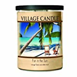 Village Candle 1-Piece 18 oz 673 g Decor Pillar Candle Jar, Fun in The Sun