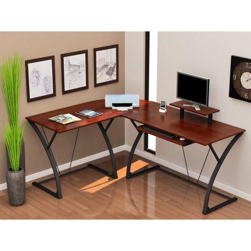 Khloe L-Shape Computer Desk - Espresso