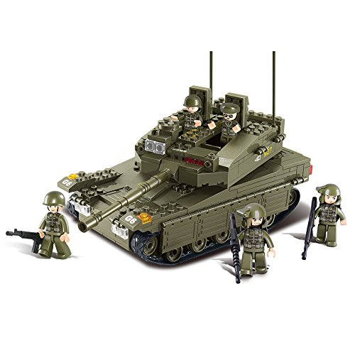 Sluban Merkava Tank 343 Pieces Building Blocks Set ¡­ (Military Building Blocks compare prices)