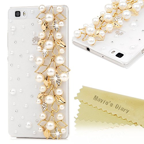 p8-lite-case-huawei-p8-lite-case-maviss-diary-3d-handmade-bling-crystal-golden-flowers-with-pearls-s