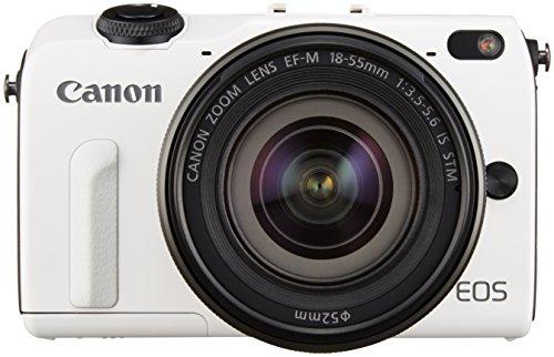 Canon ミラーレス一眼カメラ EOS M2 EF-M18-55 IS STM レンズキット(ホワイト) EF-M18-55mm F3.5-5.6 IS STM 付属  EOSM2WH-1855ISSTMLK