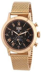 Constantin Durmont Herren-Armbanduhr XL Galveston Analog Automatik Edelstahl beschichtet CD-GALV-AT-RGM3-RGRG-BK