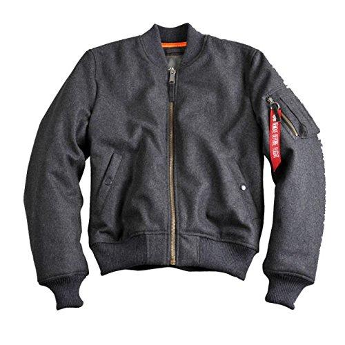 Alpha Ind. Jacke MA-1 Wool – grau NEU S – 3XL günstig kaufen