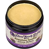 Raw Cocoa Butter - Pure Unrefined with Chocolate Aroma - One LB (16oz) - Best Organic Formula for Lotion, Cream, Lip balm, Oil, Stick, Soap and Stretch marks, Perfect for Dry Skin, Face and Hair Care