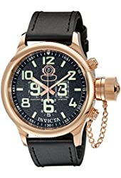 Invicta Men's 7104 Signature Collection Russian Diver 18k Rose Gold-Plated Chronograph W