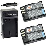 DSTE® 2x D-Li90 Battery + DC93 Travel and Car Charger Adapter for Pentax K-01 K-3 K-5 K-5II K-5IIs K-7 645D 645Z Camera as D-L90P