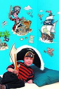 Fun To See - Adhesivos infantiles para la pared, diseño de piratas