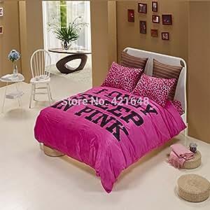 Amazon Com 100 Velvet Pink Amp White Amp Black Leopard Bedding