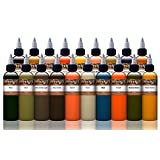 Mike DeMasi Tattoo Ink Supplies 19 Color Portrait Kit Professional Quality, 1 Oounce Bottles, Set of 19 (Color: Multi)