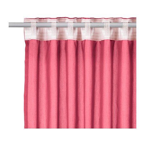 Ikea vivan   set di tende con passante, occhielli nascosti e bordo ...