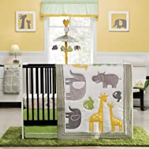 Zoo Animals 4 Piece Baby Crib Bedding Set by Carters