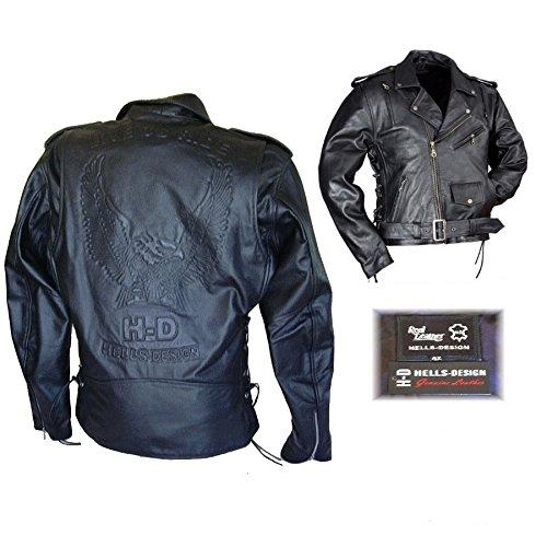 Biker Giacca pelle Aigle H-D/Hells-Design