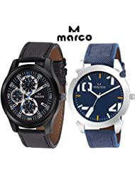 MARCO Elite Gents Combo 221 1001 Blue Analog Watch - For Men