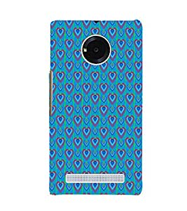 EPICCASE bluey hearts Mobile Back Case Cover For YU Yuphoria (Designer Case)