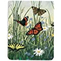 Tree-Free Greetings Butterfly Meadow Pocket Pad, 128 Pages with Sewn Binding, Recycled, 3.5 x 4.5-Inches, Multi Color (74024)