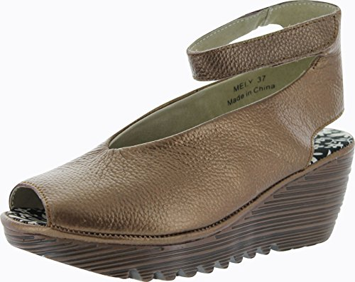Bernie Mev Womens Mely Wedge Sandals,Bronze,40 front-76559