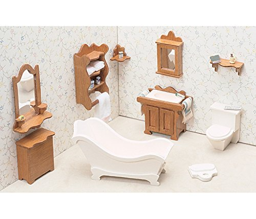 [Dollhouse Furniture Kit-Bathroom] (Guys And Dolls Costumes Era)