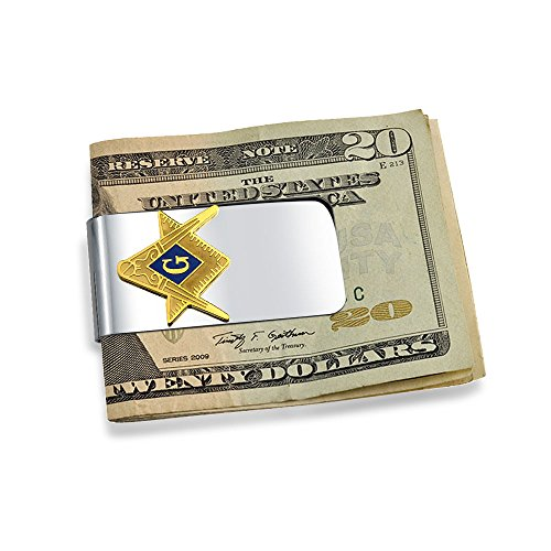 bling jewelry masonic franc ma on symbole argent clip en acier inoxydable plaqu or bijouterie. Black Bedroom Furniture Sets. Home Design Ideas