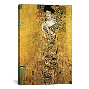 "iCanvasART Gustav Klimt Portrait of Adele Bloch-Bauer I Canvas Art Print Painting Reproduction #1099 40""x26"""