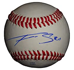 Seattle Mariners Franklin Gutierrez Autographed ROLB Baseball, Cleveland Indians, Proof Photo