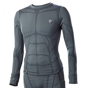UFC Aim Long Sleeve Compression Top (Grey, 2X)