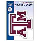 NCAA Texas A&M University 81513010 Die Cut Logo Magnet, Small, Black