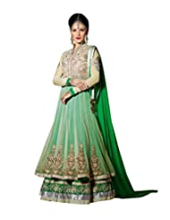 Saree dotcom Women Net Anarkali Dress Material
