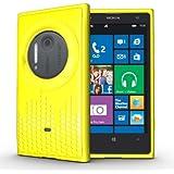 TUDIA Ultra Slim Melody Series TPU Protective Case for Nokia Lumia 1020 / Nokia EOS (Yellow)