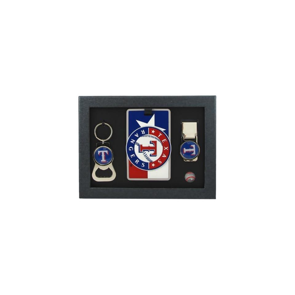 Texas Rangers   MLB Bottle Opener Key Ring, Luggage Tag, Money Clip Gift Set