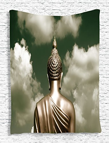ambesonne-indian-decor-collection-sepia-tones-praying-and-cloudy-bangkok-sky-photo-print-bedroom-liv