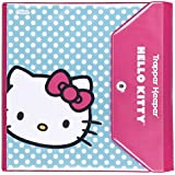 Hello Kitty Trapper Keeper 1.5 Inch Binder by Mead, 3 Ring Binder, Blue Dot Design (73459)