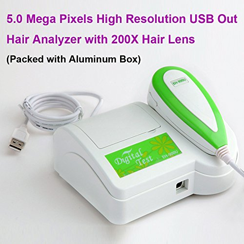 5.0 Mega Pixels Usb Out Hair Camera 200X Hair Lens With Pro Software Aluminum Box- Gh08002-Q1-0625