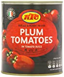 KTC Plum Tomatoes 800 g (Pack of 12)