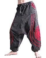 OM Unisex Psy Baggy Pants Hippie Hose Goa Baumwoll Tanzhose Stonewashed